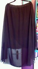 BNWT seleccionar Negro Falda Gasa Halloween Gótico irregular en el dobladillo cola de pescado 20 22