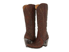 New in Box Womens Boots Old Gringo FATALE Studded Brass Size 7.5 Retail $ 975
