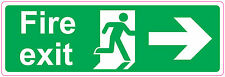 [ 300x100mm ] FIRE EXIT - RIGHT - STICKER/SIGN - Health and Safety - Direction