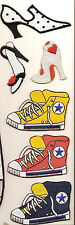 SHOES/SNEAKERS EMBROIDERED PATCHES 6 DIFFERENT NEW IRON ON