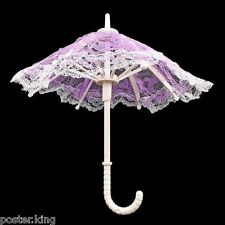 Purple Umbrella with Lace 1/6 Blythe Barbie Doll's House Dollhouse Miniature