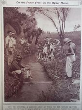 1917 FRENCH FRONT MARNE, CARRYING OUT ABLUTIONS WWI WW1