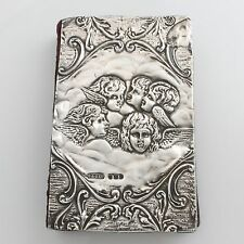 Antique Solid Sterling Silver Cover Five Graces Prayer Bible Hallmarked 1905 3¾""