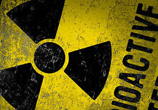 Framed Print - Radioactive Sign (Picture Poster Art Uranium Radiation Toxicity)