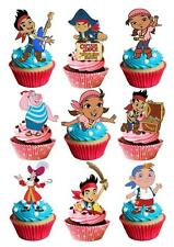 34 Jake And Neverland Pirates STAND UP Cupcake Cake Topper Edible Decoration