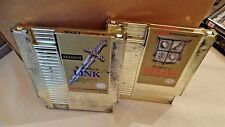 The Legend of Zelda & The Adventure of Link Nintendo NES Gold Set lot set