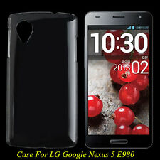 Clear Crystal Glossy Transparent Hard PC Case Cover For LG Google Nexus 5 E980 A