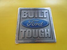 tin aluminum dealer garage repair shop advertising built ford tough truck 60065