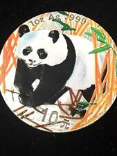 2001  Colorized Chinese Panda  1oz.  of .999 Fine Silver