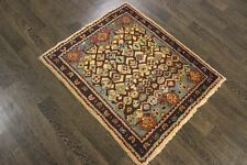 Persian Traditional Vintage Wool  2.7 X 3.1 Handmade Rugs Oriental Rug Carpet