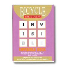 Azul Baraja Invisible Bicycle más vendidos truco de magia con cartas Dynamo