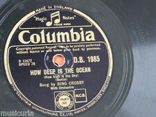 78rpm BING CROSBY how deep is the ocean / try a little tenderness