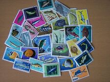 75 DIFFERENT FISH & SEALIFE THEME STAMPS,EXCELLENT.