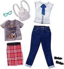 """BARBIE CLOTHES, COMPLETE LOOK FASHION 2-PACK """"GEEK CHIC"""" FITS ORIGINAL DOLL SIZE"""