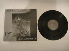 ALPHA SEQUENZ RARE MINIMAL SYNTH / COLD WAVE LP signed by the band !!