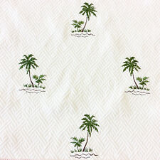 LHD239 Tropical Palm Tree Tommy Bahama Embroidered Cotton UPH Home Dec Fabric