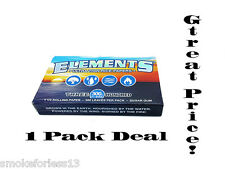 ELEMENTS 300's ROLLING PAPERS *ONE PACK 300 LEAVES* 1 1/4 78MM FREE SHIP W/TRACK
