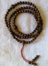 108 Beads Meditation Prayer Crocodile Agarwood 8 MM wood Necklace or Bracelet