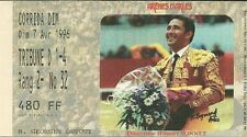 RARE / TICKET BILLET SPECTACLE - CORRIDA A ARLES ( FRANCE ) 1996 / TAUROMACHIE