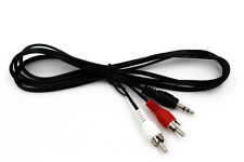 Headphone Aux Audio 3.5mm Stereo Male to 2 RCA Red White Y CABLE FOR IPOD MP3
