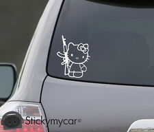 Hello Kitty AK47 Decal Sticker Revolution AK 47 Sniper bad funny car truck