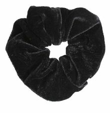 3x Velvet Black Hair Scrunchies Elastic Scrunchies Bobble Hair Band Clip UK