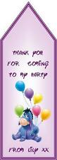 Eeyore Disney Birthday Party Bag Gift Tags Children Boy Girl