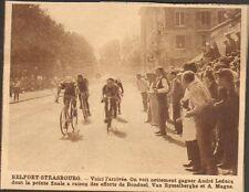STRASBOURG TOUR DE FRANCE CYCLISME LEDUCQ BONDUEL MAGNE IMAGE 1929