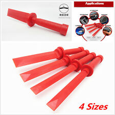 4Pcs Red Car Door Plastic Trim Panel Dash Audio Radio Open Removal Pry Tool Kit
