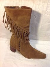 Marco Tozzi Brown Mid Calf Suede Boots Size 39