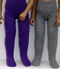 "2 Pairs SASHA 16"" 17"" dolls tights 11 colours to choose from LESLEY SHAW new"