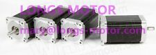 【German&Free ship】4pcs Nema 34 stepper motor 1600 oz.in Dual shaft 11.2NM CNC
