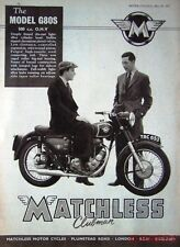 1957 Motor Cycle ADVERT - Matchless '500cc Model G80S Clubman' Photo Print AD