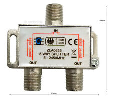 Sat-Verteiler, Y-Splitter, Antennenverteiler, Koax, TV 2-way Spliter, #635