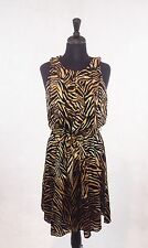 WHBM Black & Brown Sleeveless Tiger Print Dress; Size 8; $170; Party/Event/Work