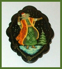 "RUSSIAN BROOCH  ""Old Man Frost - Russian Santa DED MOROZ"" HAND PAINTED"