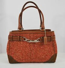 Coach Hamptons Herringbone Cam Rose Carryalle Purse F11215 - NEW WITH TAGS!