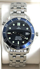 2531.80 Omega Seamaster Professional Large Bond Blue Wave Pattern Auto Watch