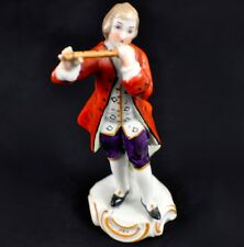 Vintage Sitzendorf Porcelain Figurine - Man Playing the Flute