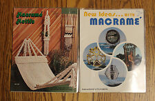 2 X New Ideas With Macrame & Motifs Books Butterfly Shawl, Chair Swing, Hangers