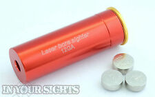 12 Gauge Laser Cartridge Bore Sighter 12GA Shot Gun Boresighter Sight Boresight