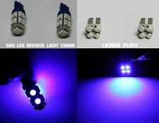 4x Blue HID Color LED SMD Reverse Back Up & License Plate Light Bulbs T15 / T10