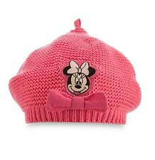 Disney Store Authentic Minnie Mouse Knit Beret Beanie Toddler Hat 18-24 Months