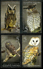 Thailand 2013 MNH 4v, Owls Birds of Prey