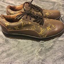 Authentic Louis Vuitton Brown Sneakers Rare Size 8
