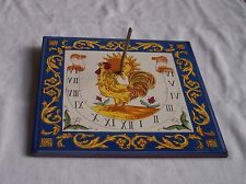 Sundial Ceramic Tile made in Spain - Stunning Hand painted - unused condition.
