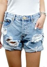 NWOT Free People One Teaspoon Chargers Destroyed Jean Shorts Size 26