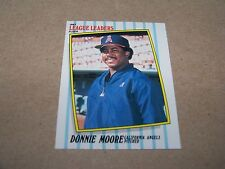 CALIFORNIA ANGELS DONNIE MOORE 1987 FLEER LEAGUE LEADERS #30 OF 44