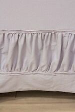NEW ANTHROPOLOGIE NIMBUS JERSEY COLLECTION GRAY BEDSKIRT TWIN