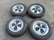 FIAT 124 SPIDER INCH WHEEL SET WHEELS HUBCAPS  MICHELIN NICE TIRES TRIM RINGS!